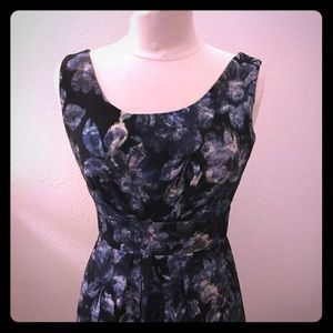 Kate Spade Size 4 Blue Flowered Party Dress